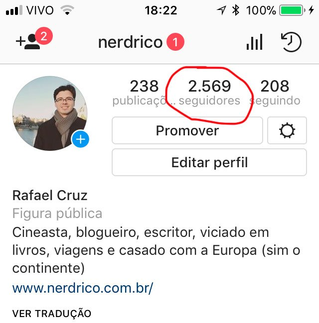 Como aumentar seguidores instagram Nerd Rico